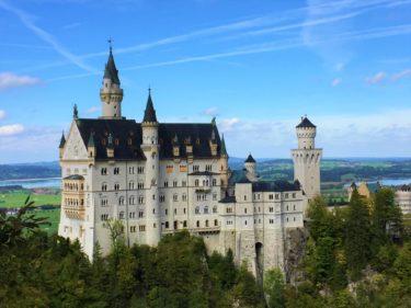 ドイツ観光。ヴィース教会/Wieskircheとノイシュヴァンシュタイン城/Schloss Neuschwanstein